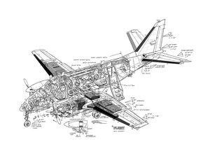 Beech King Air A100 Cutaway Drawing