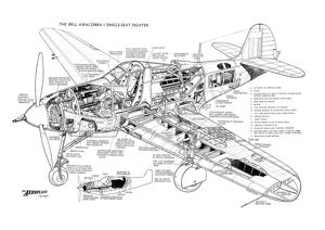 Bell P-39 Airacobra Cutaway Poster
