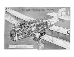 Boulton Paul P75 Overstrand Cutaway Drawing