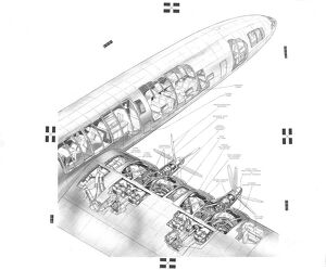 Bristol Brabazon Cutaway Drawing