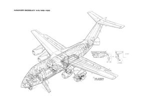 British Aerospace 146-100 Cutaway Drawing