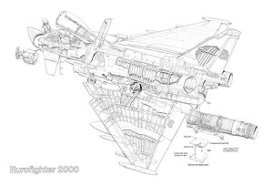 British Aerospace Eurofighter 2000 Typhoon Cutaway Drawing