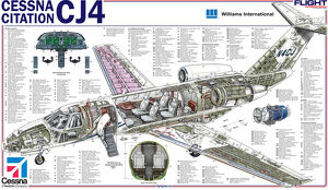 Cessna Citation CJ4 Cutaway Poster