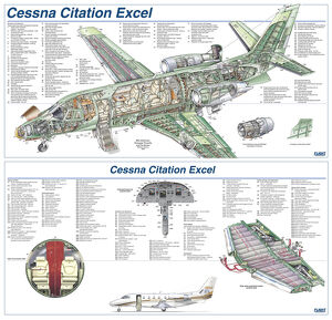Cessna Citation Excel Cutaway Poster