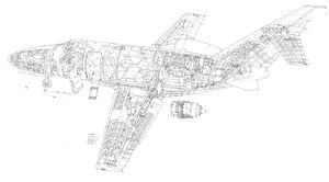 Cessna Citation Mustang Cutaway Drawing