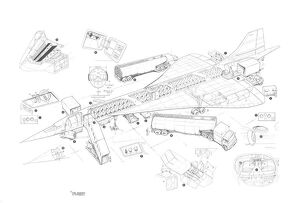 Concorde Ground Handling Cutaway Drawing