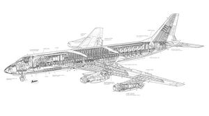 Convair 880 Cutaway Drawing