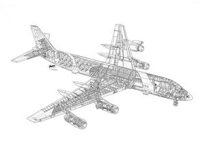 Convair CV-990 Cutaway Drawing