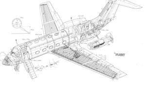 Dassault Fan Jet Falcon Cutaway Drawing