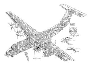 DHC Dash-7 Cutaway Drawing