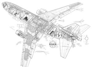 Douglas DC 10 series 30 Cutaway Drawing