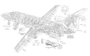 Embraer CBA-123 Cutaway Drawing