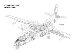 Fokker F.27 Maritime Enforcer Cutaway Drawing