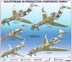 Gulfstream Family cutaway poster