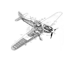 Hawker Hurricane Mk1 Cutaway Drawing