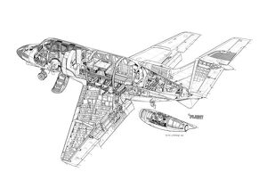 Hawker Siddeley HS125-400 Cutaway Drawing