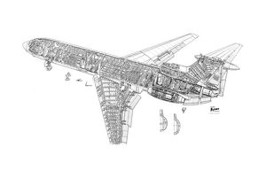 Hawker Siddeley Trident 1E Cutaway Drawing