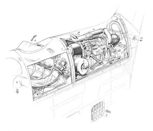 Hawker Siddeley Trident 3B - RB.162-86 & AP Cutaway Drawing