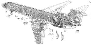 Hawker Siddeley Trident Cutaway Drawing