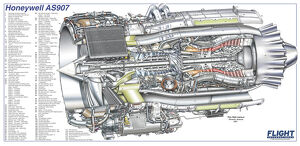 Honeywell AS907 Cutaway Drawing