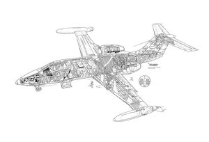 Learjet 35/36 Cutaway Drawing