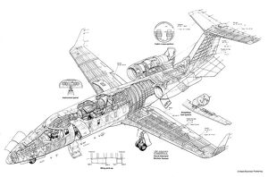 Learjet 60 Cutaway Drawing