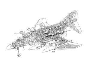 McDD F-4K Phantom Cutaway Drawing
