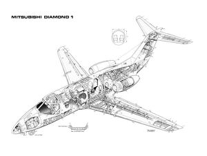 Mitsubishi Diamond 1 Cutaway Drawing