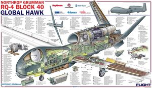 Northrop Grumman RQ-4 Global Hawk Block 40 Cutaway Poster