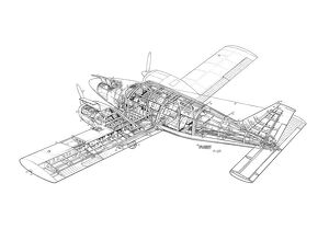 Piper PA-34 Seneca Cutaway Drawing