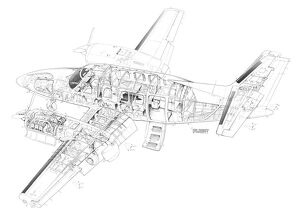 Rockwell Commander 700 Cutaway Drawing