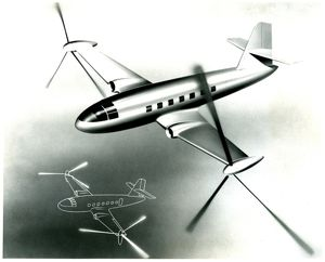 Roto-prop transport plane proposed as a design by Laurence LePage