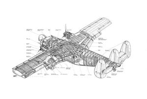 SAL Twin Pioneer Cutaway Drawing