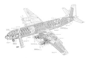Vickers Vanguard Cutaway Drawing
