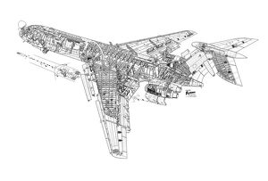 Vickers VC-10 Cutaway Drawing
