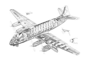 Vickers Viscount 701 Cutaway Drawing
