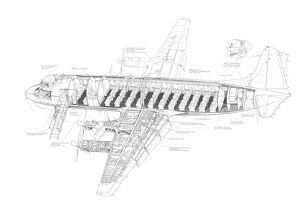 Vickers Viscount 810 Cutaway Drawing
