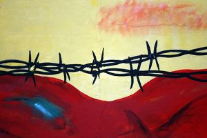Abstract - barbed wire