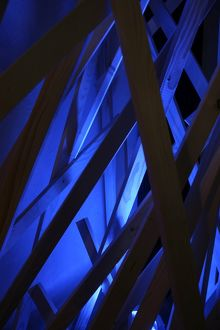 Abstract - blue wood
