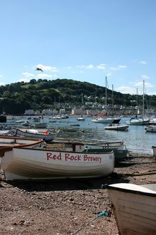 Boats at Teignmouth looking towards Shaldon, Devon, UK