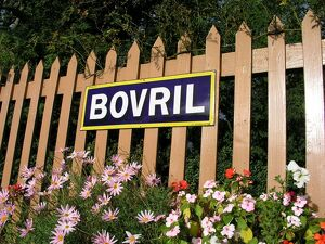 Bovril sign at Crowcombe Heathfield station, Somerset