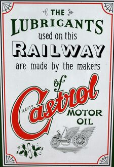 Castrol motor oil vintage advertising poster