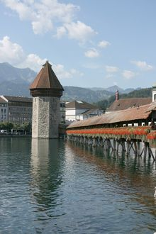 Chapel Bridge, The Kapellbrucke, Lucerne, Switzerland
