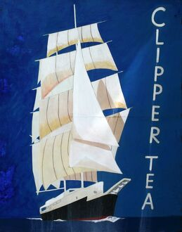 Clipper Tea vintage advertising poster