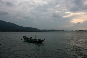 Danshui, Taipei County, Taiwan - view towards Bali