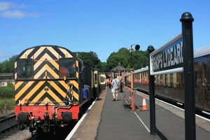 Diesel and The Quantock Belle at Bishops Lydeard, Somerset