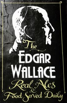 The Edgar Wallace Inn sign London