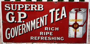 G P Government Tea vintage advertising poster