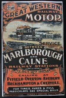Great Western Railway motor service vintage advertising poster