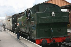 Loco 4160 at Bishops Lydeard station, Somerset